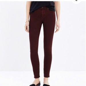 Madewell Garment Dyed Skinny Skinny Jeans